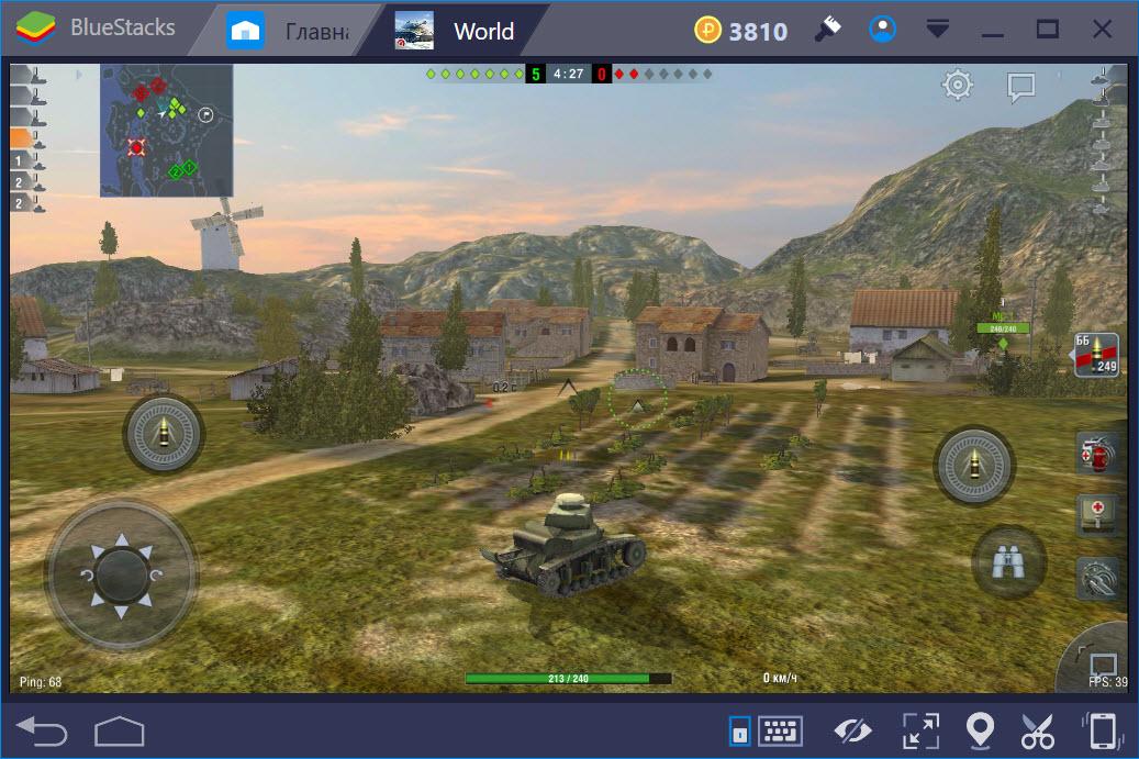 Бои в World of Tanks Blitz