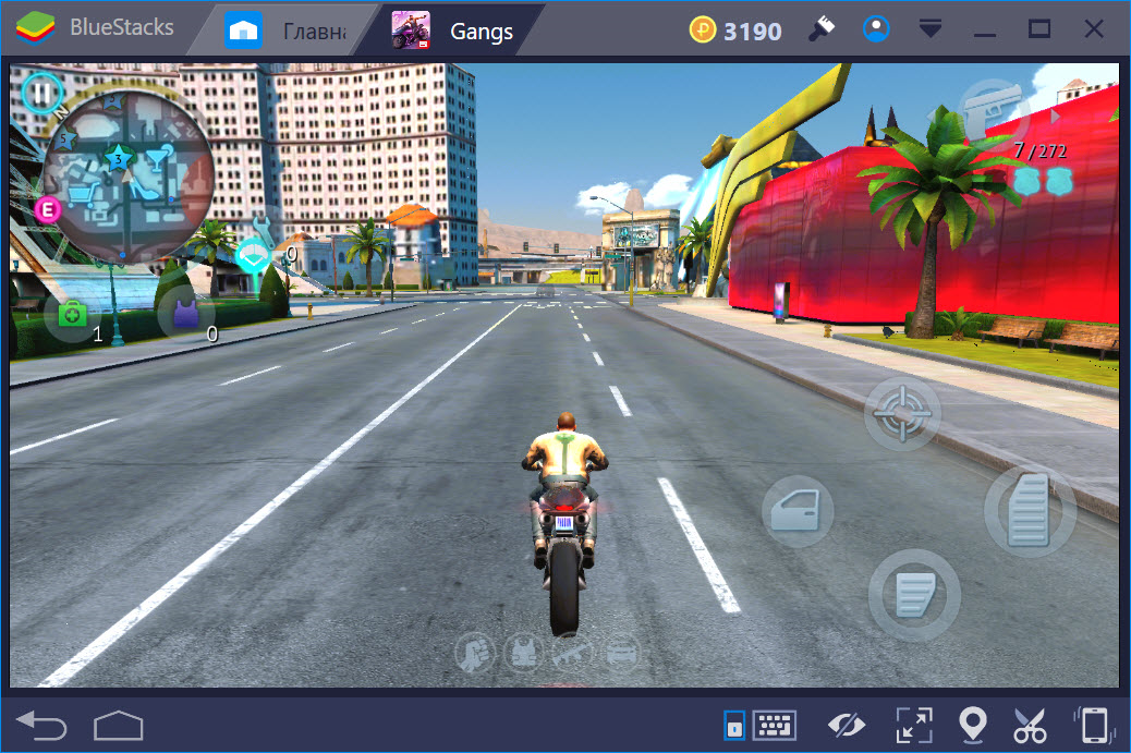 Езда на мотоцикле в Gangstar Vegas