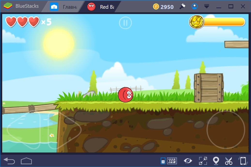 Геймплей Red Ball 4