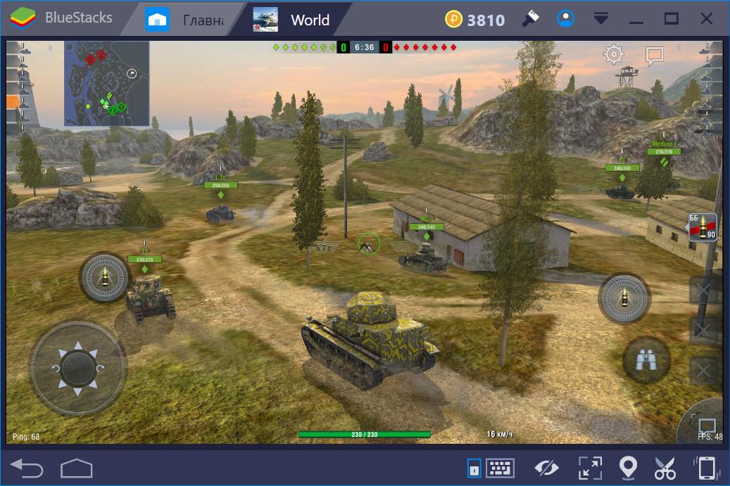 Геймплей игры World of Tanks Blitz