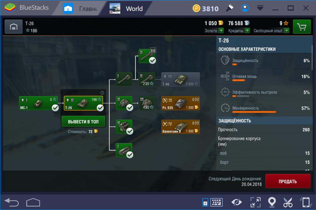 Ветка развития World of Tanks Blitz