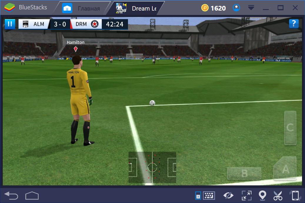 Игровой процесс Dream League Soccer 2018