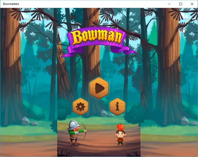Начало игры Bowmasters