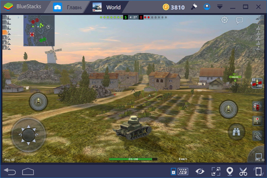 Бои в World of Tanks Blitz