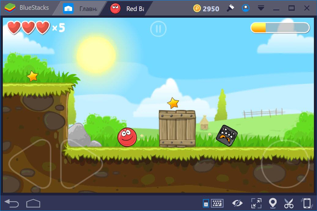 Игровой процесс Red Ball 4